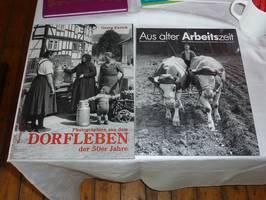 Fotobände mit alten Bildern der Region
